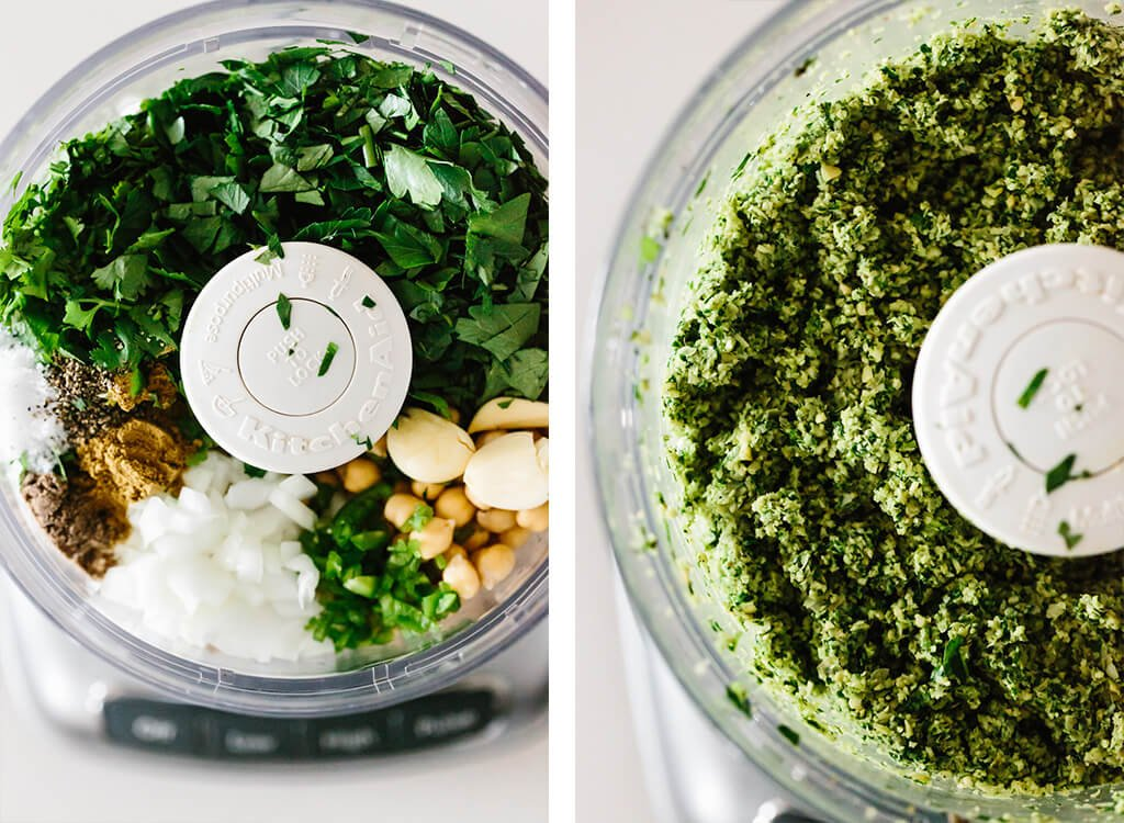 How to make falafel in a food processor.