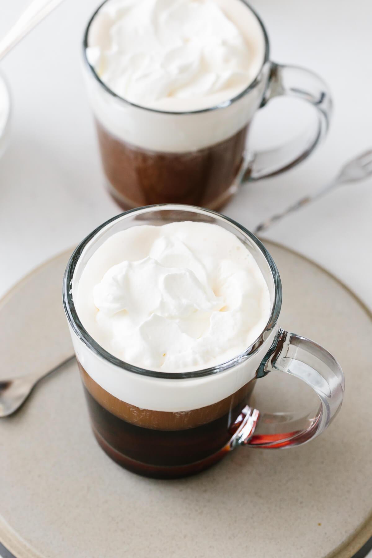 Two glasses of Irish Coffee.