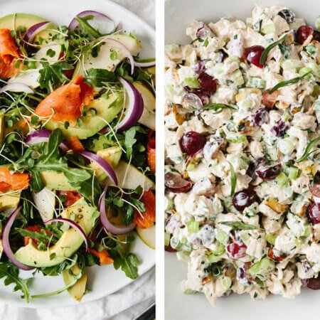 Salad recipes with chicken salad and salmon salad