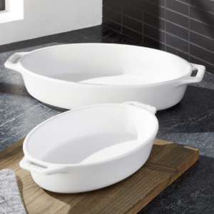 Oval baking pans.
