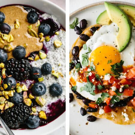 Best healthy breakfast ideas with chia pudding and huevos rancheros